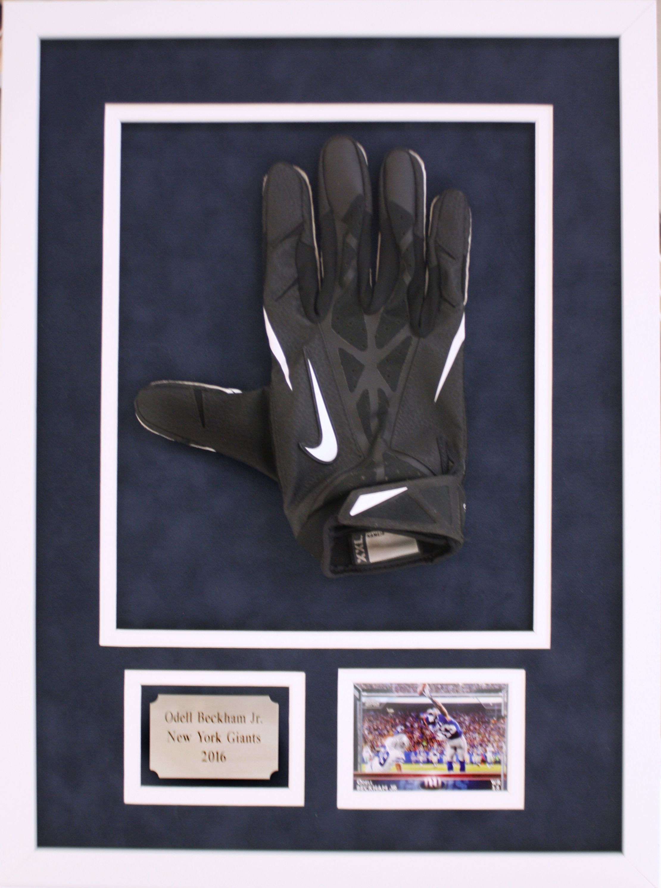cheaper 8b57a 9412e Odell Beckham Jr. Football glove with picture and name plate ...
