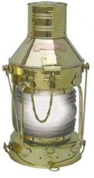 Ankerlampe Messing, elektrisch 230V, H: 48cm