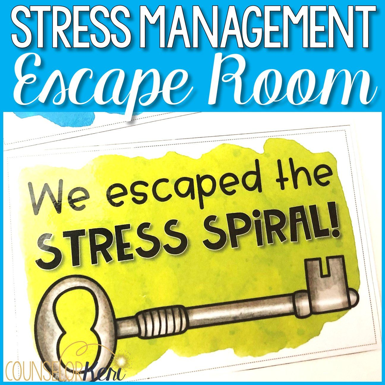 Stress Management Activities Stress Escape Room For