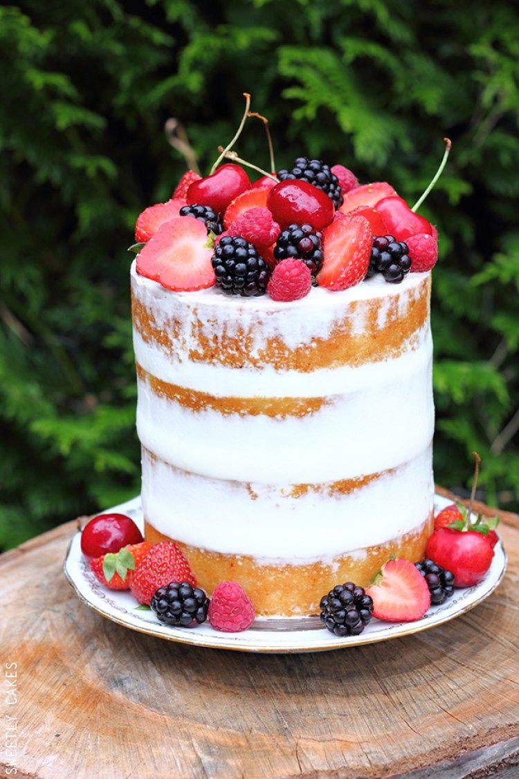 Naked cake fruits rouges | Chut Je cuisine