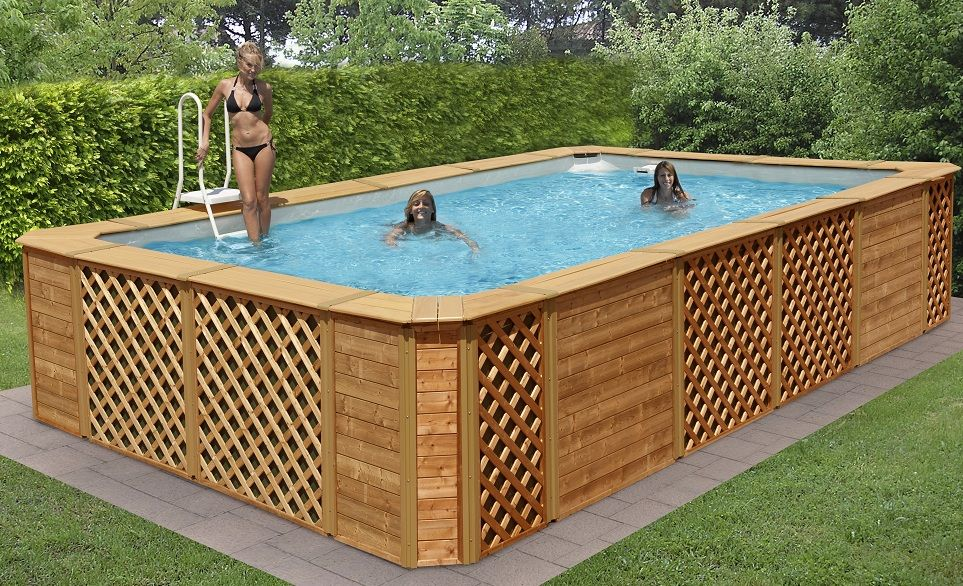 Bildergebnis f r patio piscine hors terre piscinas for Piscine hors terre design