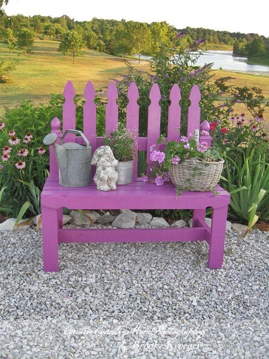 Diy Picket Fence Garden Bench Lots Of Diy Bench Ideas