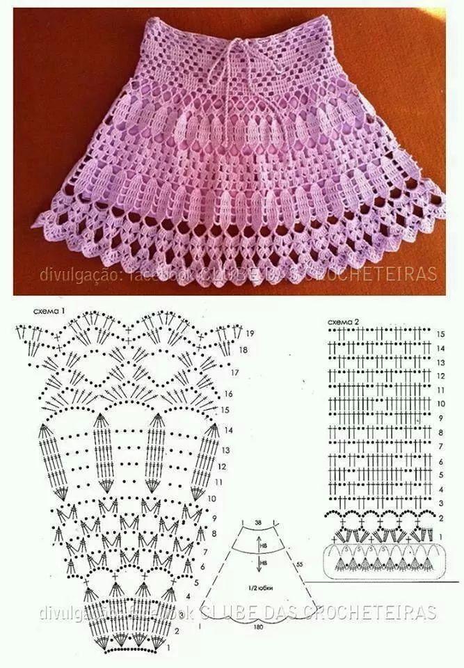 Falda tejida niña | crochet skirt lil girls | Pinterest