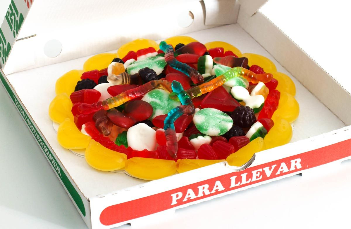 Lo Quiero Pizza De Gominolas Para Los Más Golosos Dulces De Sushi Gomitas Dulces Pizzas Dulces