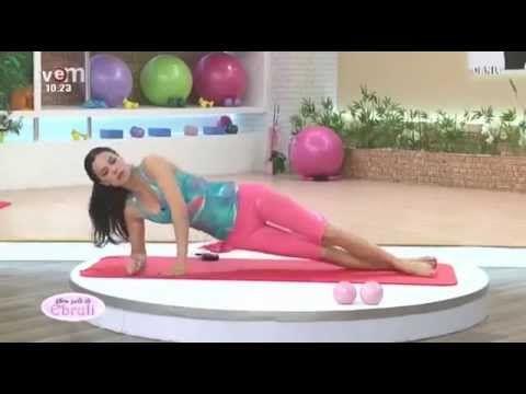 Ebru Şallı Dümdüz Bir Karın Günü Pilates - YouTube