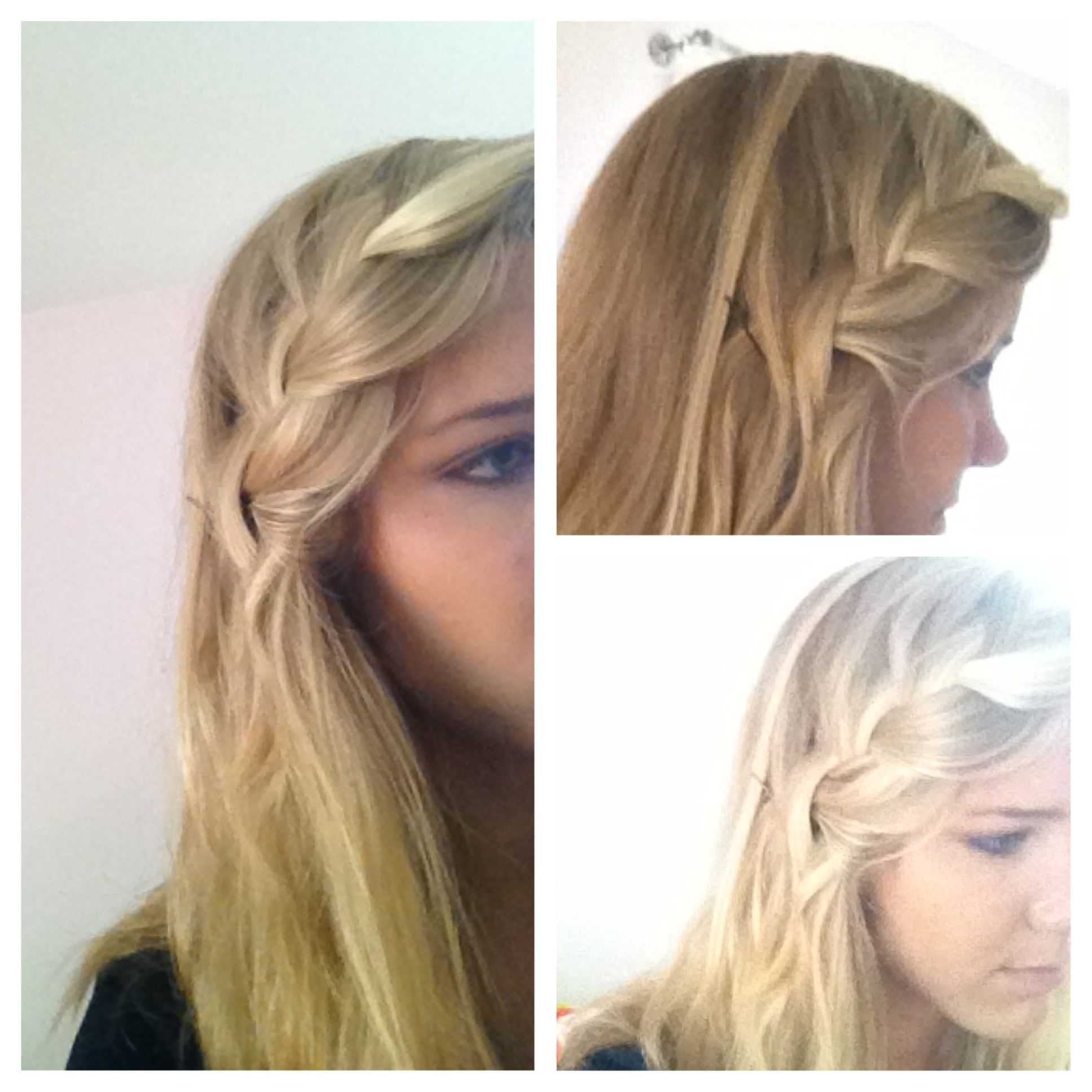 French braid hair to the side cute hairstyle everyday cute hair