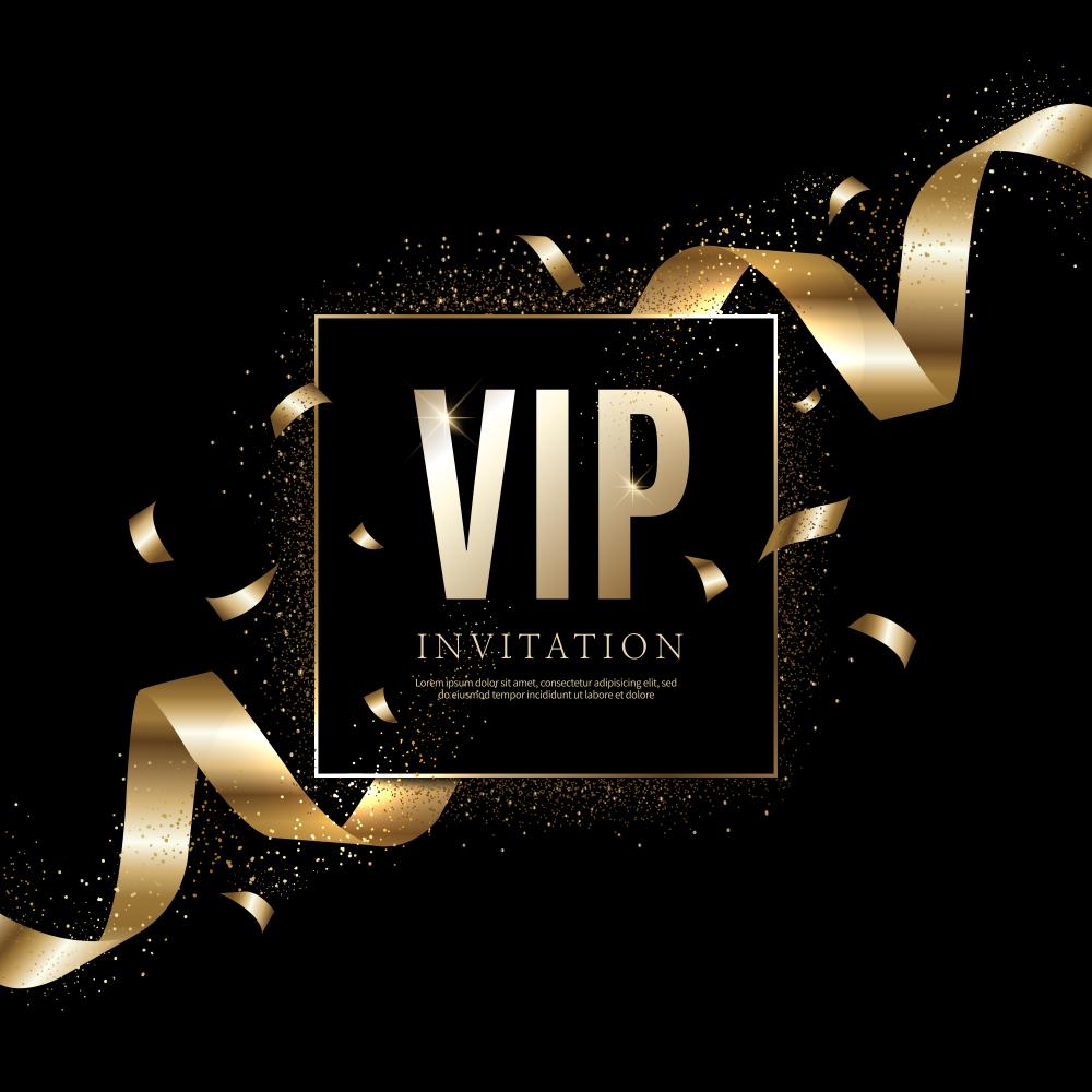 luxury vip invitations coupon
