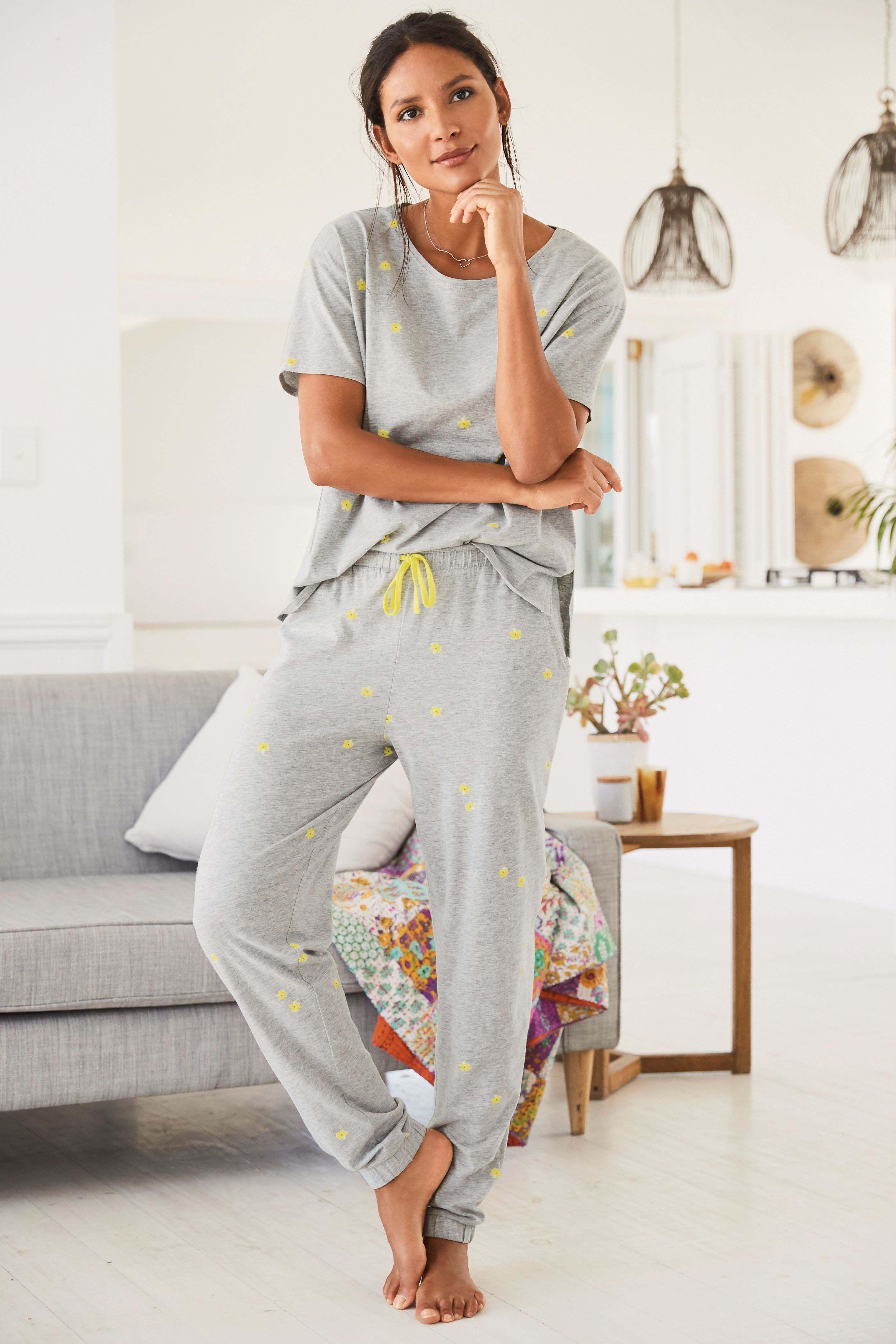 a5a5a377a Womens Next Grey Daisy Cotton Blend Pyjamas - Grey | Products in ...