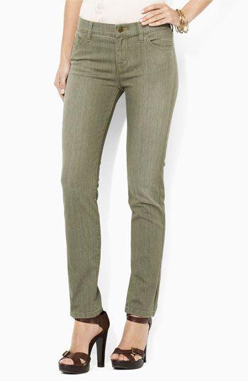 Lauren by Ralph Lauren Modern Straight Leg Jeans   Nordstrom
