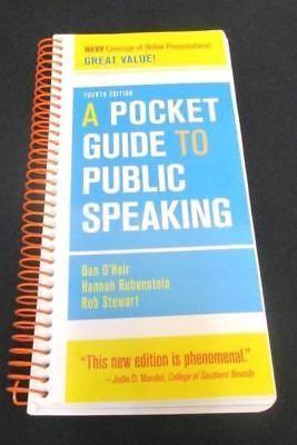 4th Ed A Pocket Guide To Public Speaking Spiral Dan O Hair Hannah Rubenstein Public Speaking Public Guide