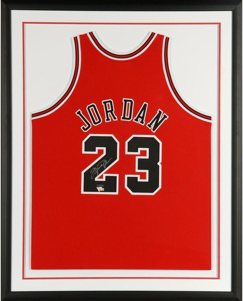 Framed Jersey of MichaelJordan ChicagoBulls 23 GOAT