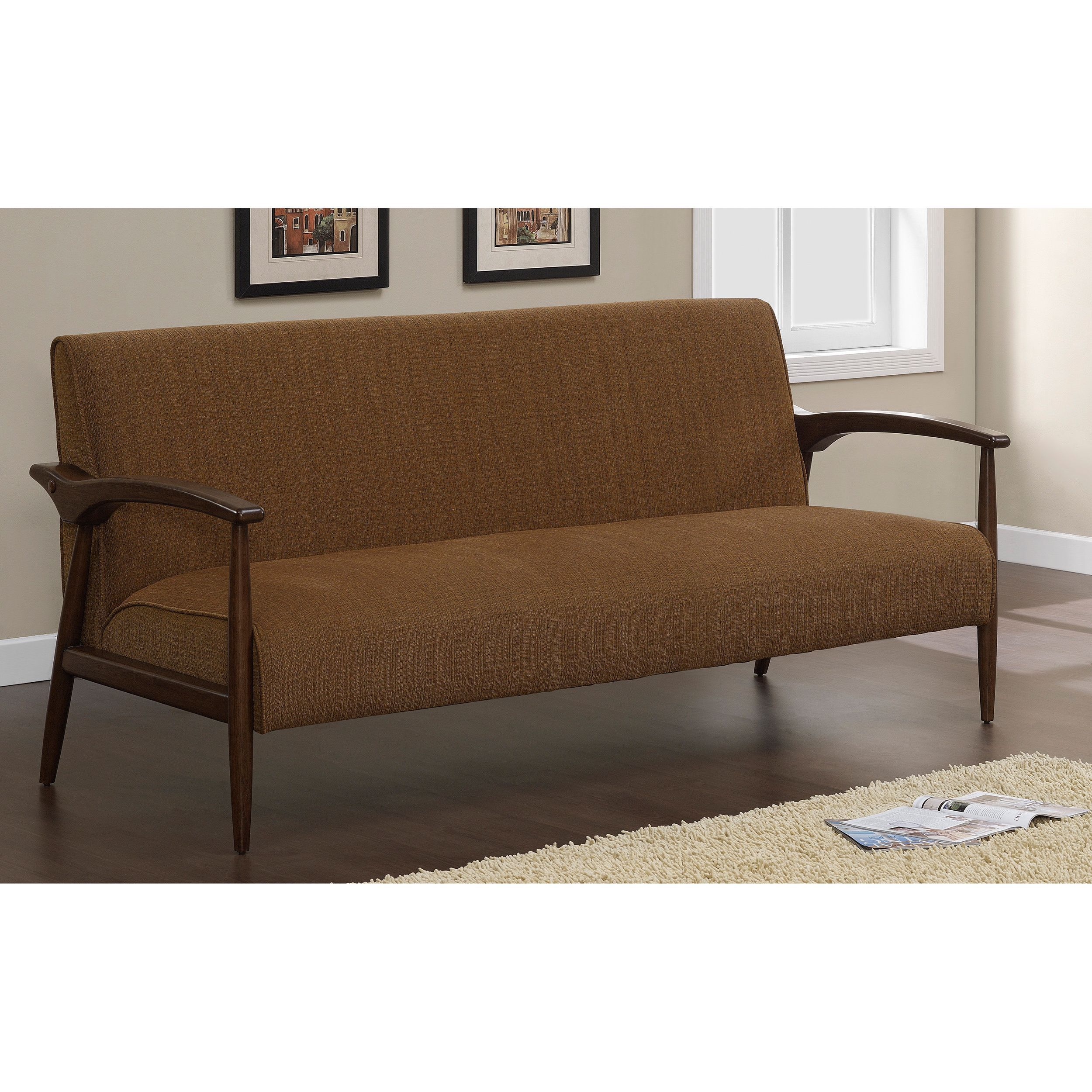 Retro Sofa Wood Add Fresh Appeal To Your Living Room Decor With The Gracie Retro