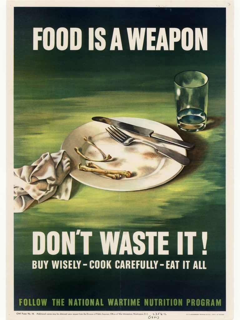 Us poster world war ii food in world war ii rationing recipes this is a propaganda poster regarding food rations during the time of world war i the posters would say food is a weapon dont waste it meaning that forumfinder Choice Image