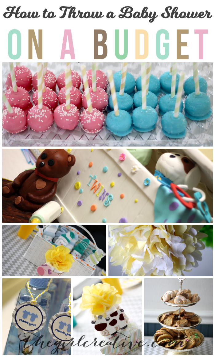 How to Throw a Baby Shower on a Budget | Dollar Store favors, handmade decorations, desserts and free printables