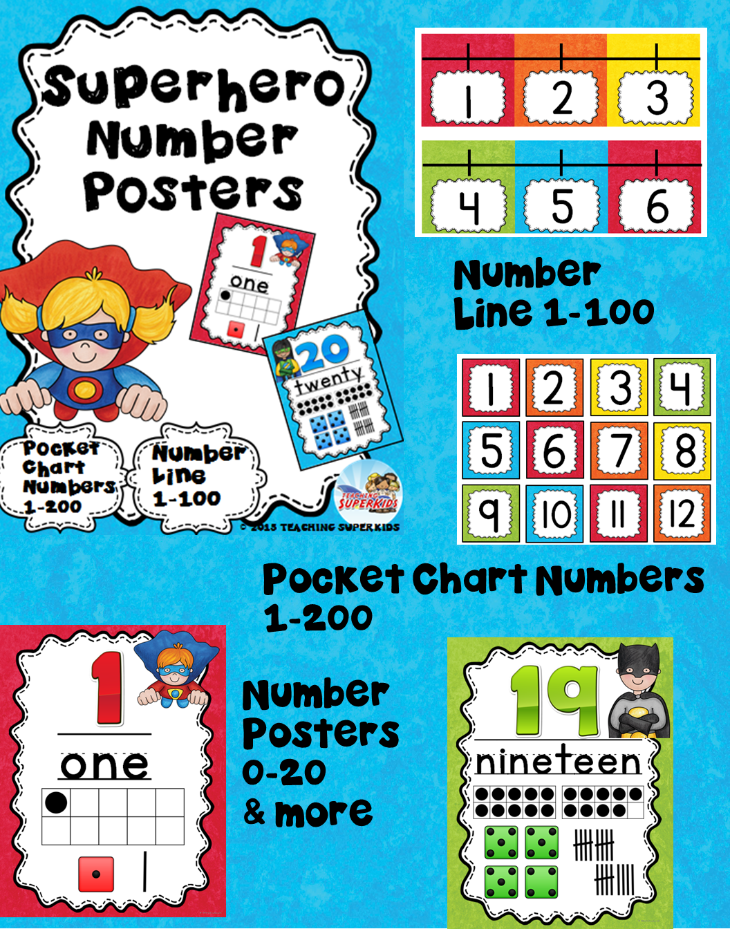Superhero Themed Number Posters | Pinterest | Tally marks, Ten ...