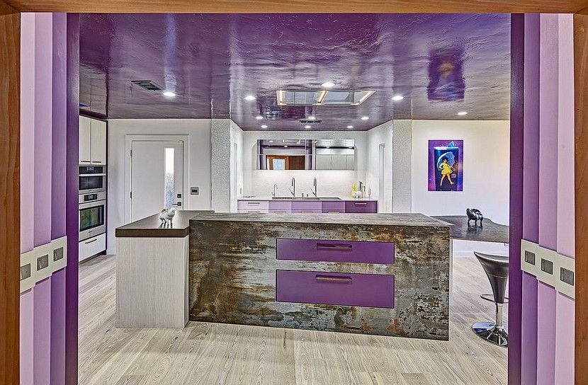 20 Stylish Kitchen Purple And Violet With Appliances Design Ideas