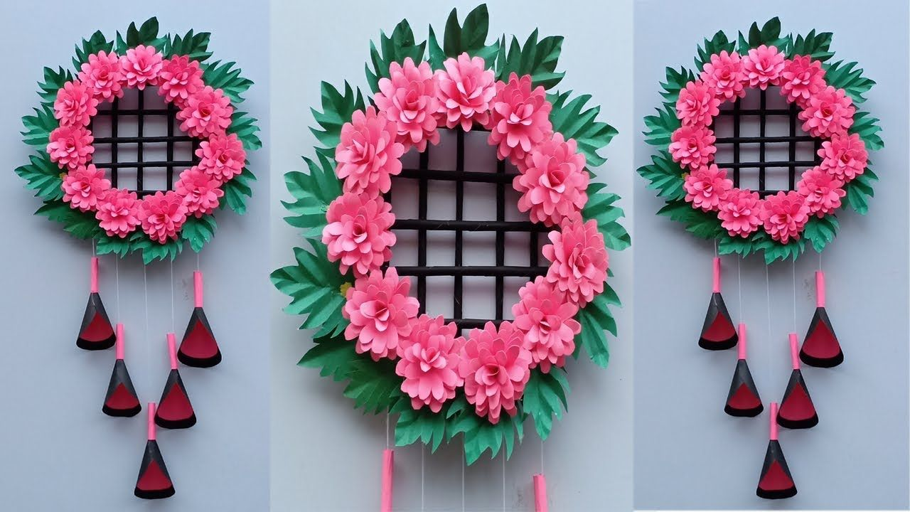 Diy Paper Craft Ideas Easy Wall Hanging Room Decoration Ideas Wast Paper Crafts Diy Crafts Diy Paper