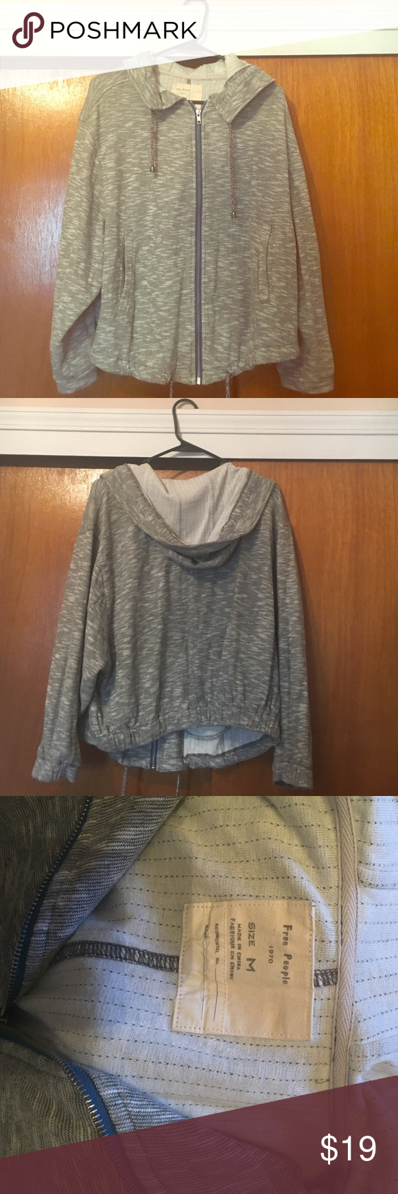 Super cozy lightweight Free People zip up hoodie Love this sweatshirt, just trying to free space in my closet. Have only won a handful of times. Perfect for the fall and lounging! Free People Sweaters