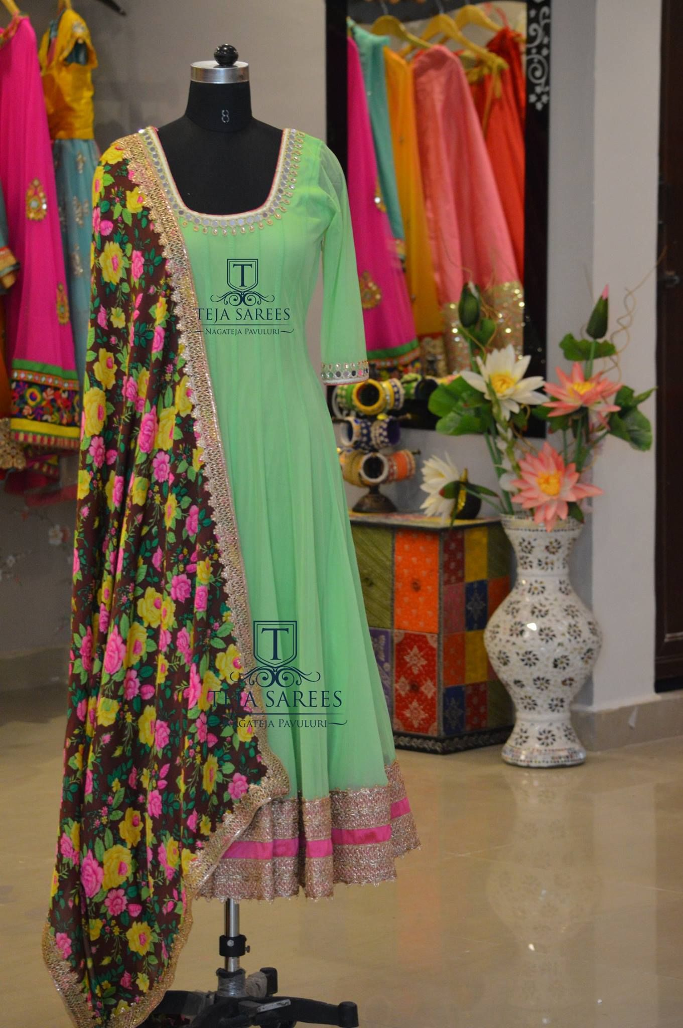 Teja Sarees Hyderabad Phone 8790382382 Indian Gowns Dresses Designer Anarkali Dresses Dress Indian Style