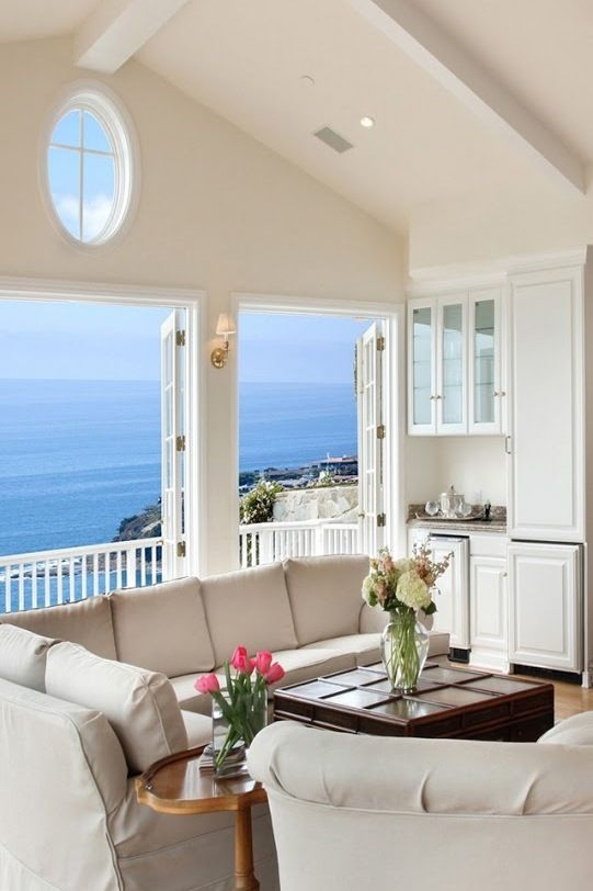19 Ideas For Relaxing Beach Home Decor: A Nice View To Wake Up To! Ha...... Relaxing Time!