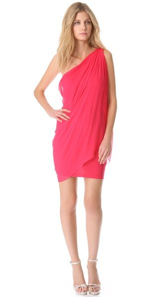 One Shoulder Draped Dress | Pinterest