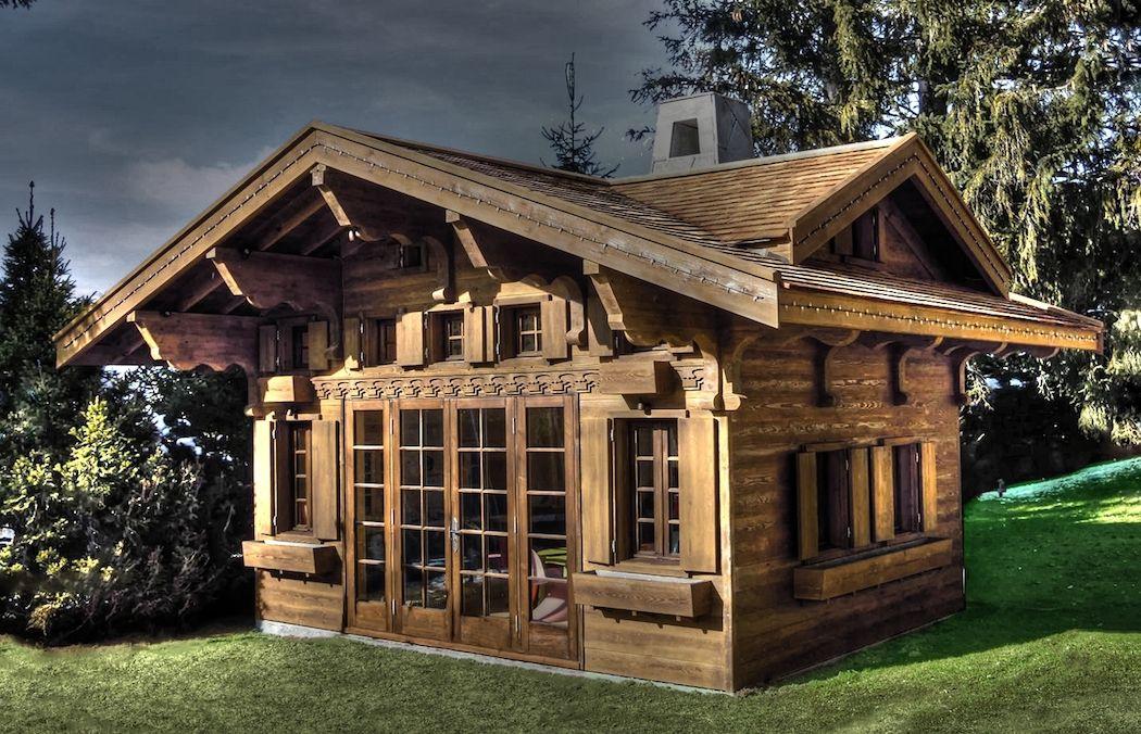 Main view swiss chalet miniature replica copy children 39 s for Swiss chalet home designs