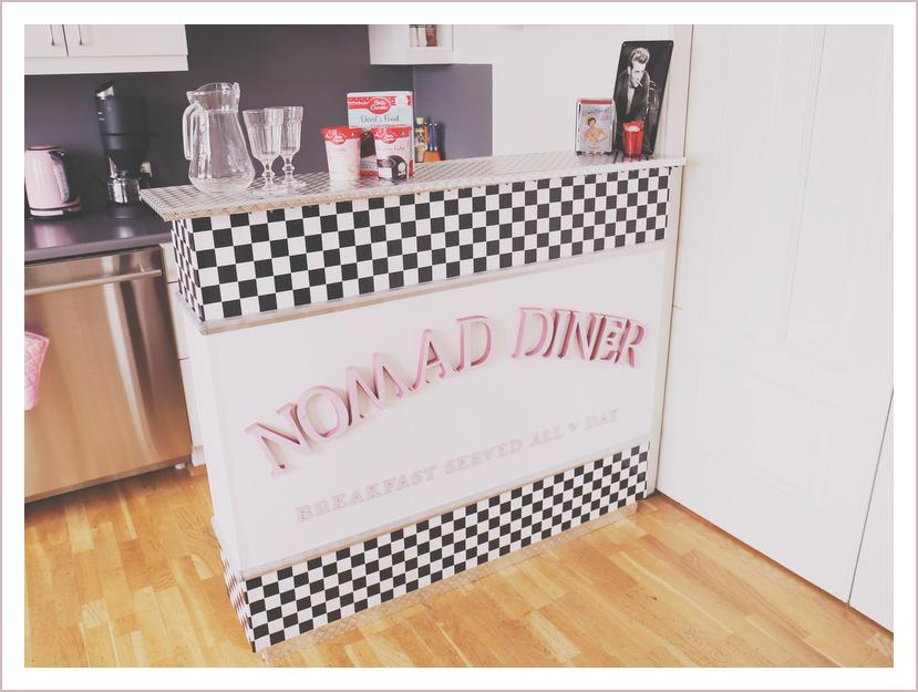 American Diner Theke DIY, American Diner Bar selber bauen, 50s Diner Theke, Retro Diner Do it Yourself, DIY Blog Iceland, Do it Yourself Blog, Like A Riot, Blog 50s Style