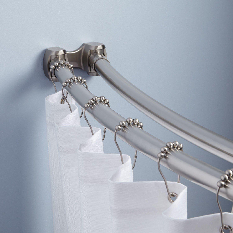 Vorhangschiene Fur Das Badezimmer Interessante Und Zuverlassige Losungen Zur Sicherung Von Vorhangen Duschvorhang Stangen Gardinenstange Duschvorhangstange