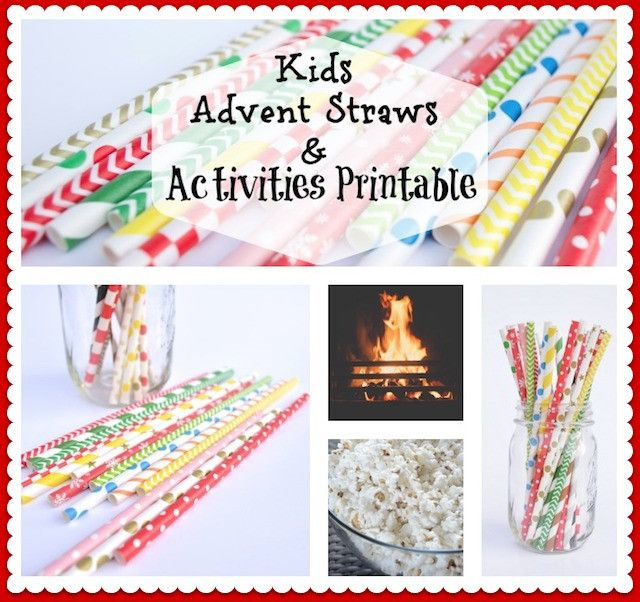 Christmas Advent Calendar Activity Straws for Kids-Countdown 25 days