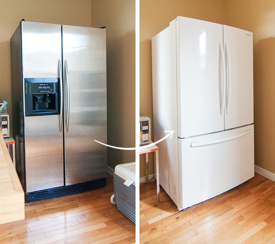 Appliances Stainless Steel Vs White Yellow Brick Home White Appliances White Fridges Black Stainless Steel Appliances
