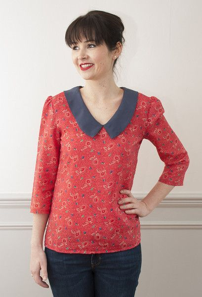 Susie Blouse PDF Sewing Pattern - Sew Over It | sew | Pinterest | Blusen