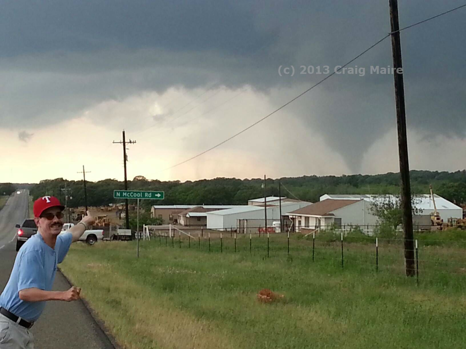 Tornado Near Nocona Tx Tonight 5 15 13 Pic By Craig Maire Severe Weather Tornados Tornado