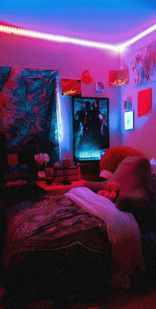 My Room 2k20 In 2020 Neon Room Coral Room Decor Girls Dorm Room