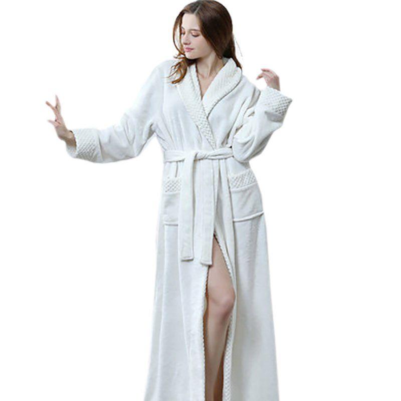 Robe de chambre coton blanche
