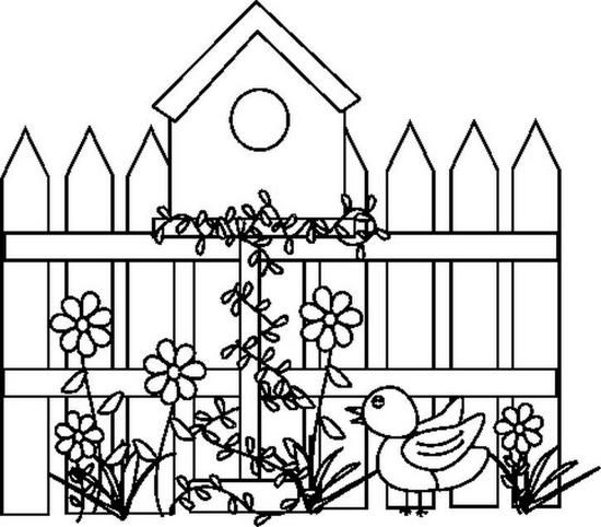 Colouring Book Solid Lines Drawings Houses