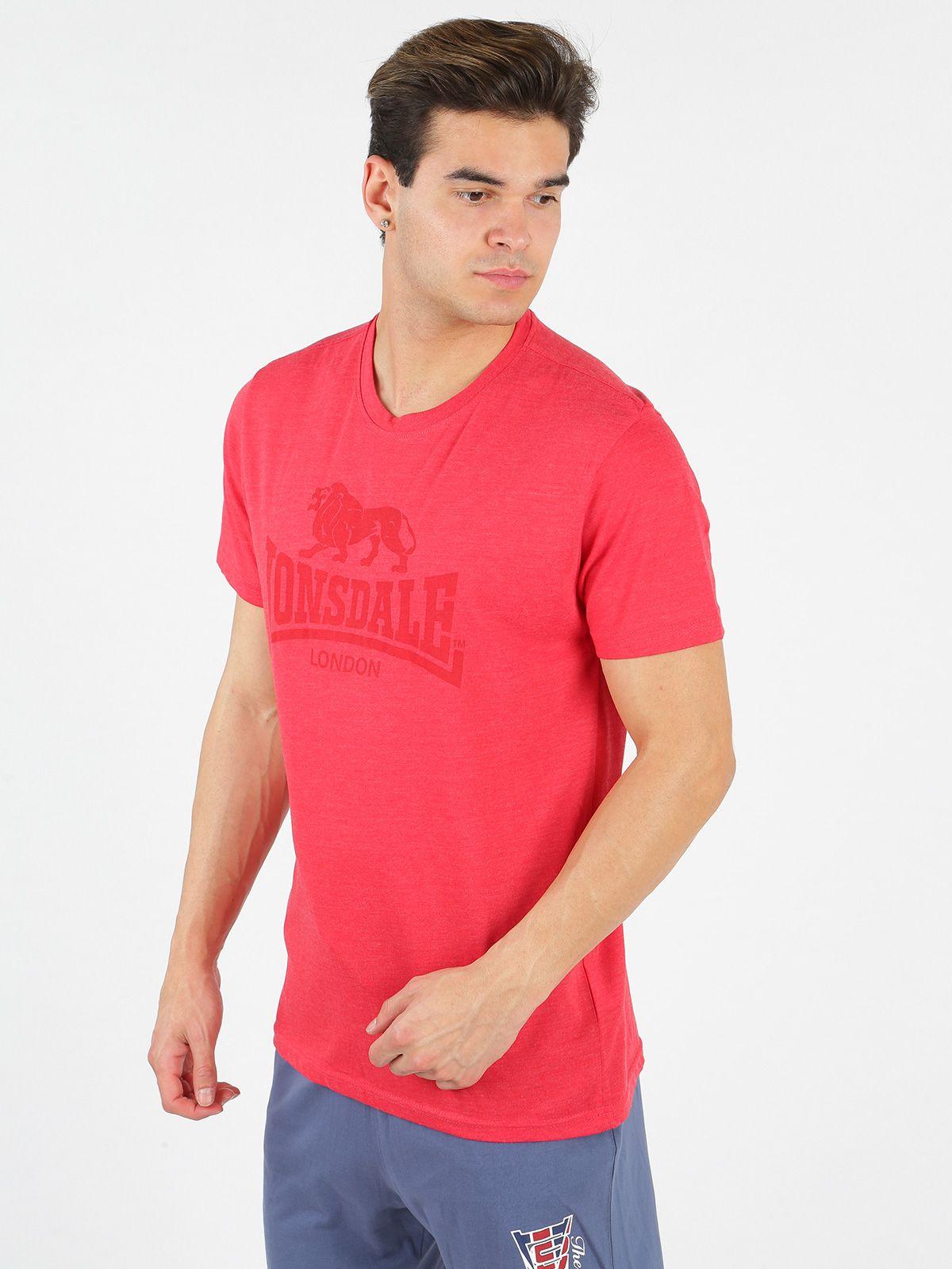Stampa Davanti shirt Con Sul Cotone Arancione T Uomo Mecshopping XnwOP80k