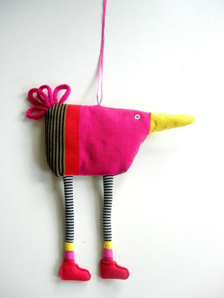 Muurdecoraties - Fantasie vogel - Een uniek product van Doortje-Peperkamp op DaWanda