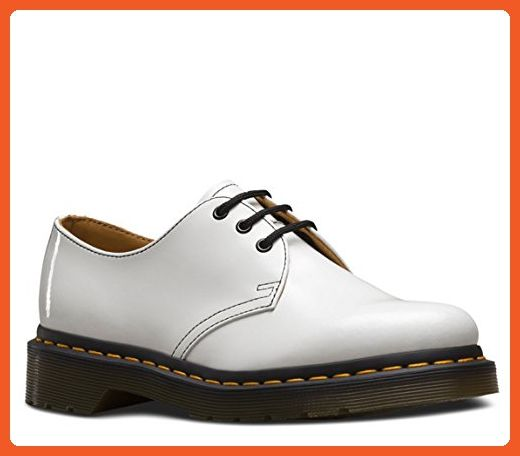 Dr Martens Women S 1461 3 Eye Oxfords White Patent Lamper Leather 6 M Uk 8 M Us Ox Leather Oxfords Women Leather Shoes Woman Oxfords Leather Oxford Shoes