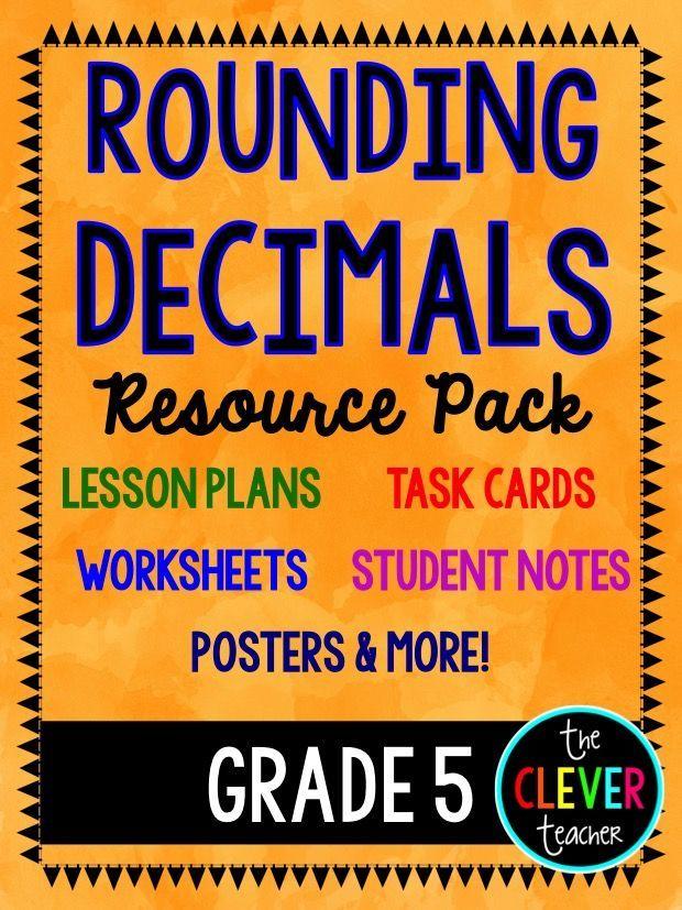 Rounding Decimals Lesson Plans Task Cards And Quiz