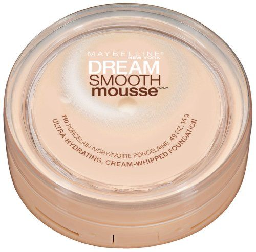 Maybelline New York Dream Smooth Mousse Foundation, Porcelain Ivory, 0.49 Ounce $7.69