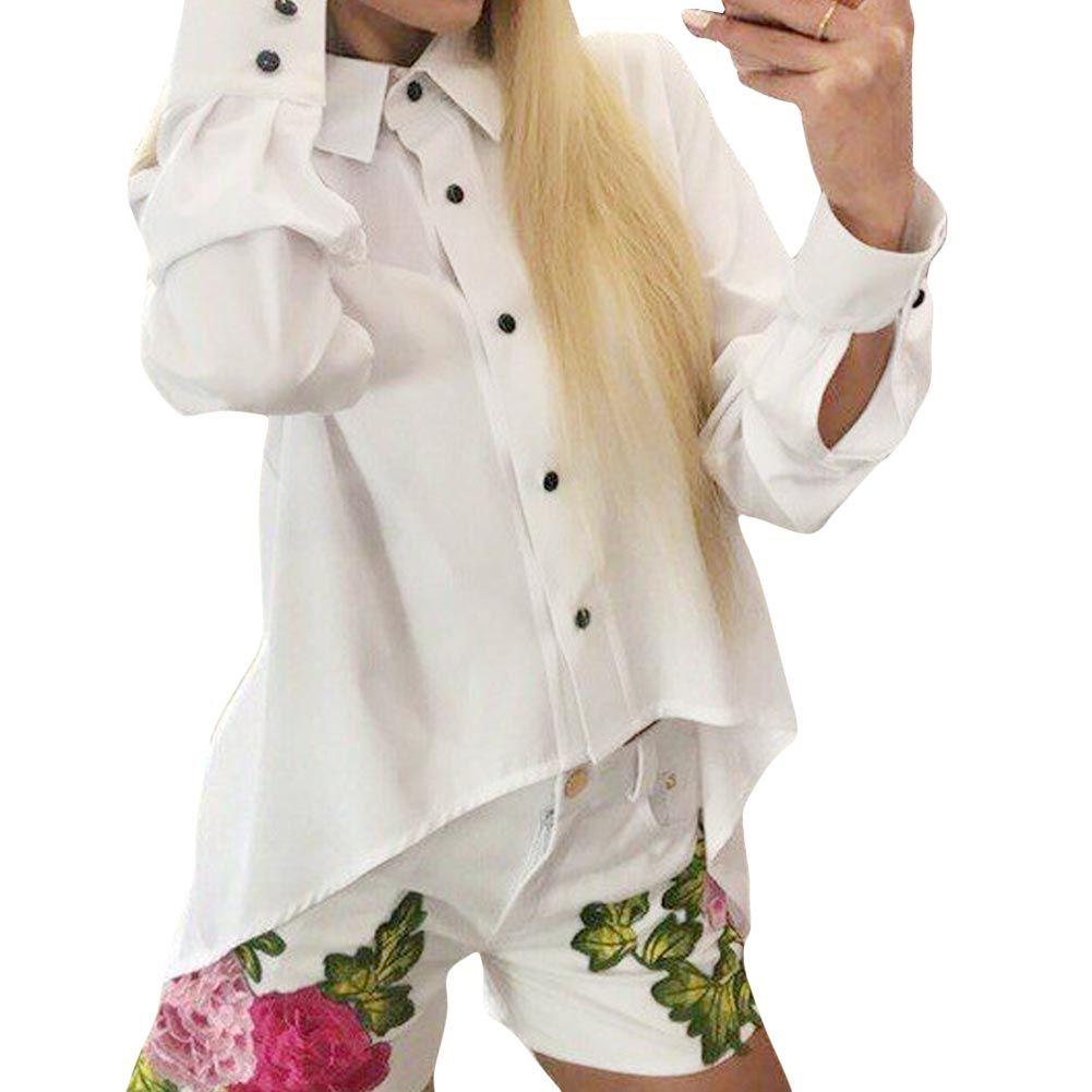 Click to buy ucuc new casual women shirt long sleeve chiffon blouse xl