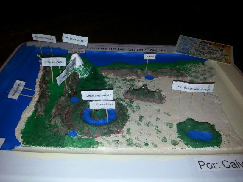 3D salt dough map of Oregon. 2nd grade project ... State Map Salt Dough Landform Project on salt dough project california regions map, 3d landform project map, create your own island project map,