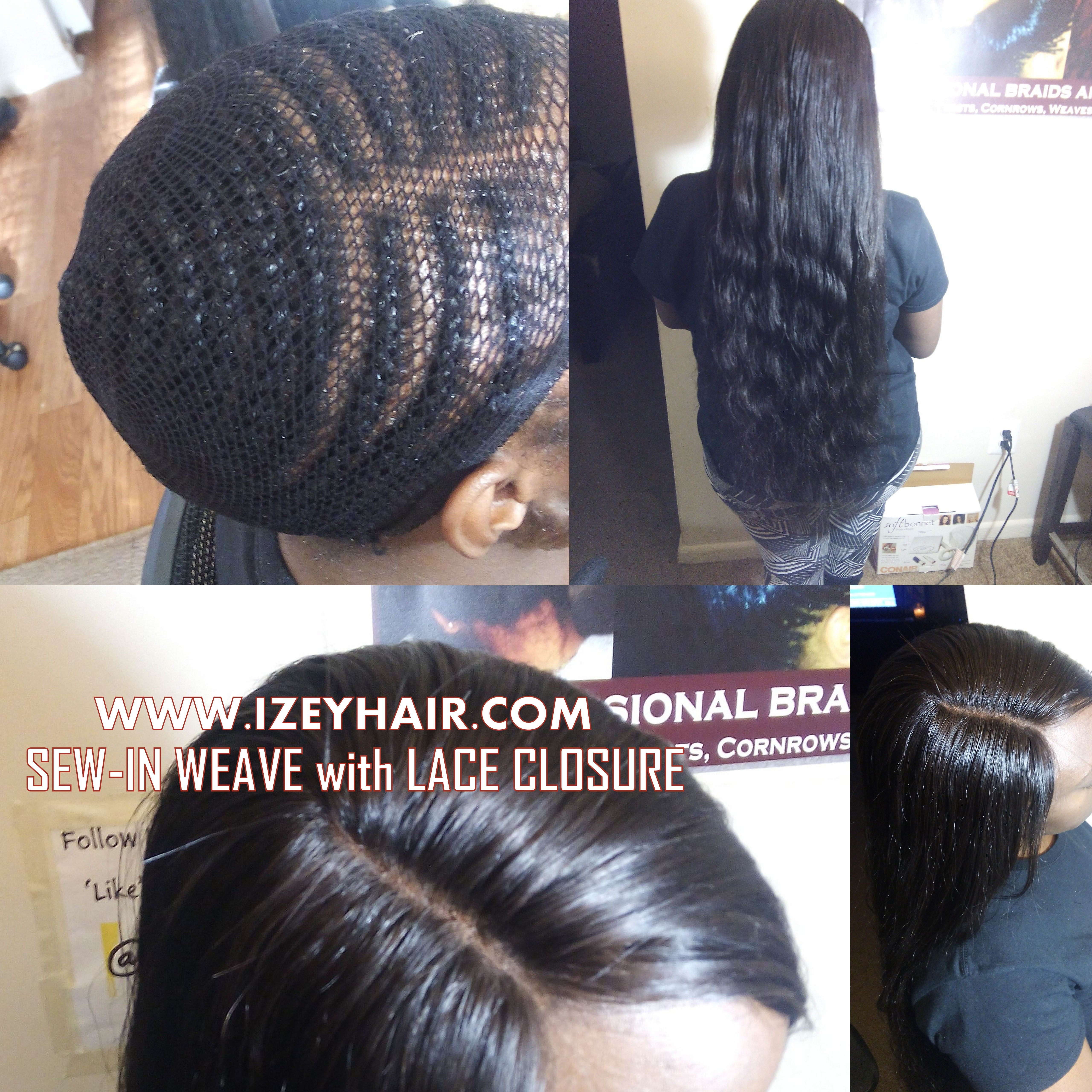 Sew in weave with Lace Closure izeyhaircom  hairstyles and hair
