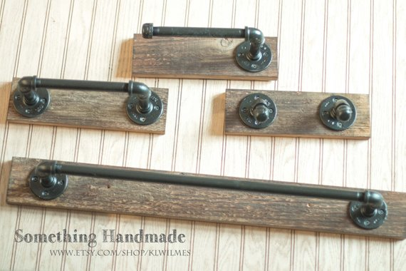 Barn Wood Bathroom Set Rustic 1892 Reclaimed 18 Or 24 Inch Towel Bar Hand R
