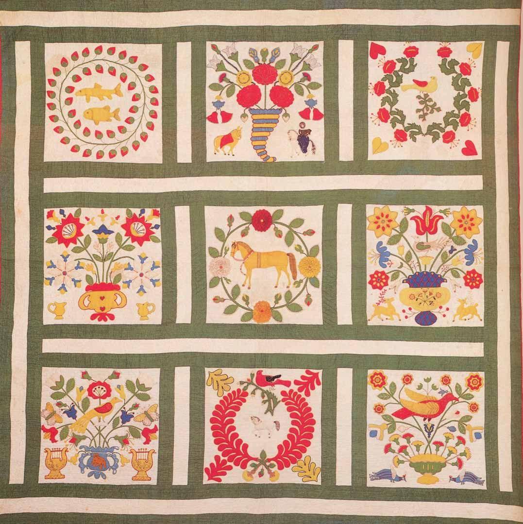 Album Quilt, 1850. Baltimore Co, Maryland.