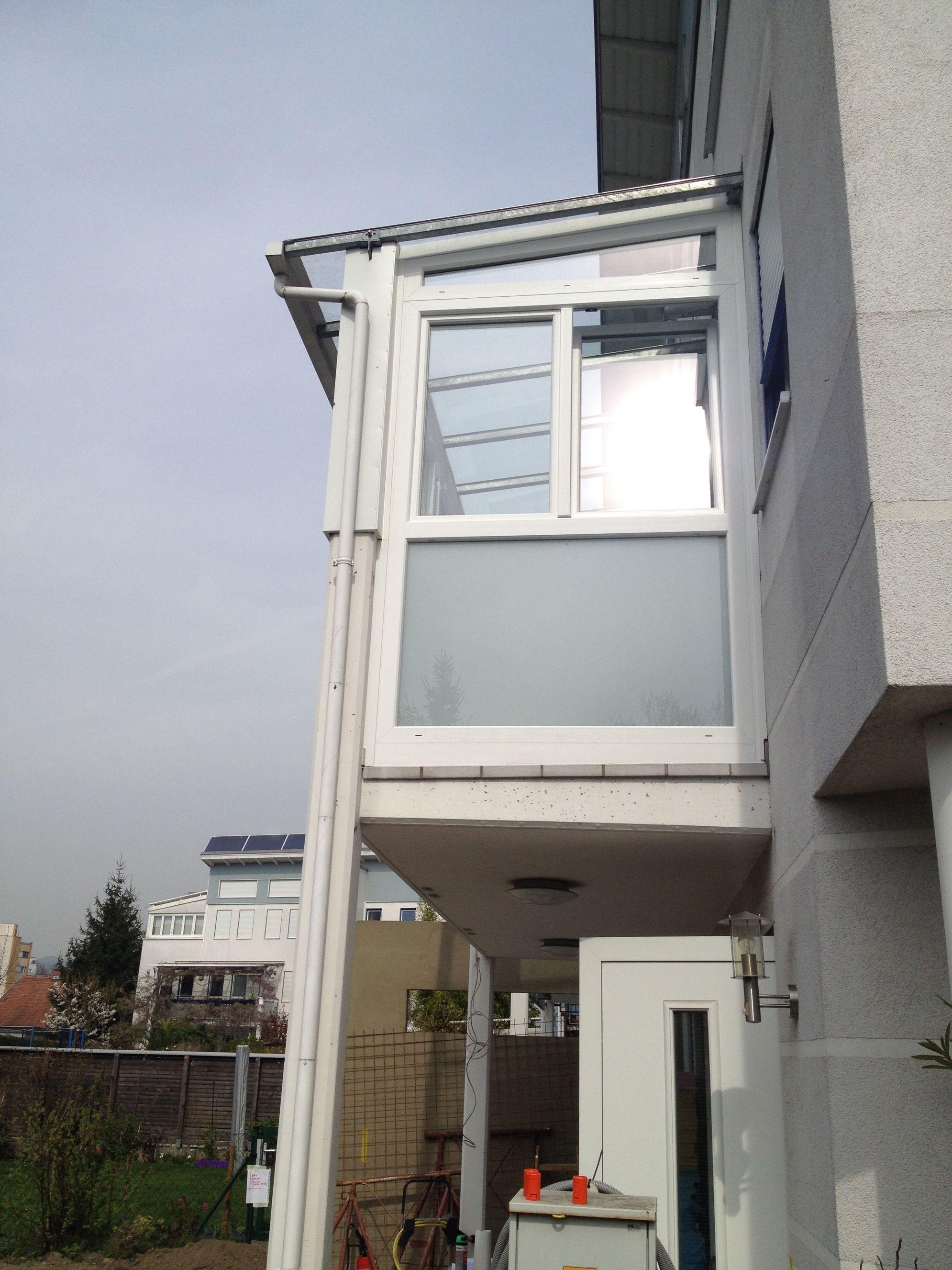 wintergarten kunststoff alu auf balkon