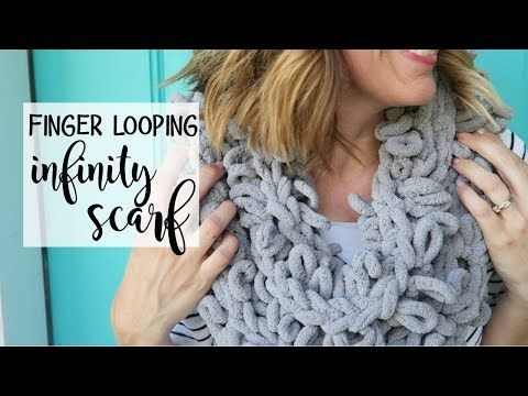 Finger Looping Chunky Infinity Scarf With Loop It Yarn Youtube