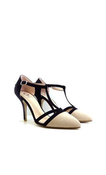 62011fa35540c Salón stiletto beige de mujer Zapatos baratos 20€