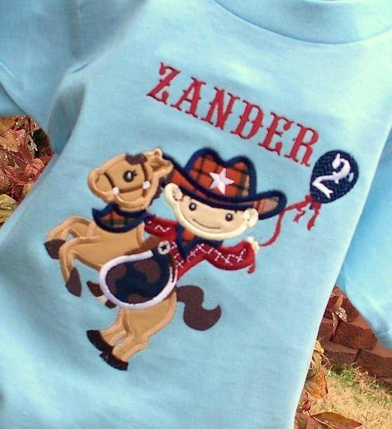 63dd4351e Personalized Boys Cowboy Birthday Shirt   Custom Cowboy Tshirt or ...