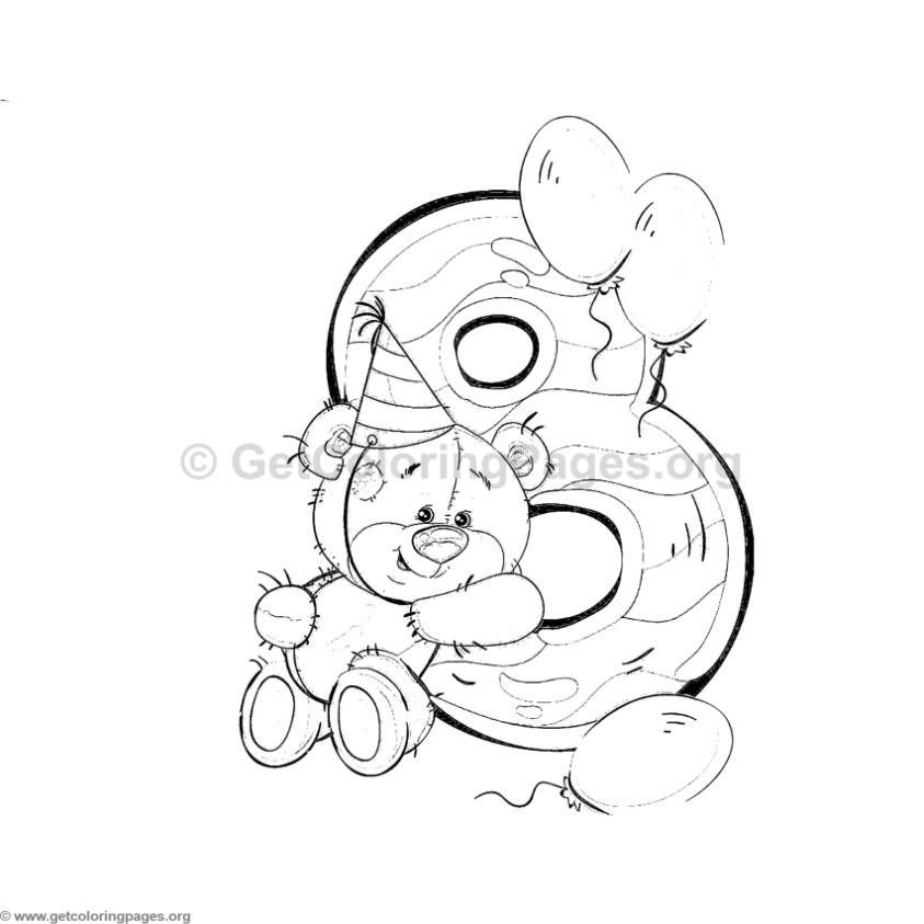 Teddy Bear Number Eight Coloring Pages Pintura Em Fraudas